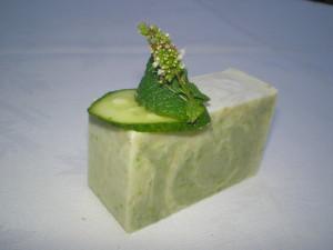 Márványos uborka szappan készítése