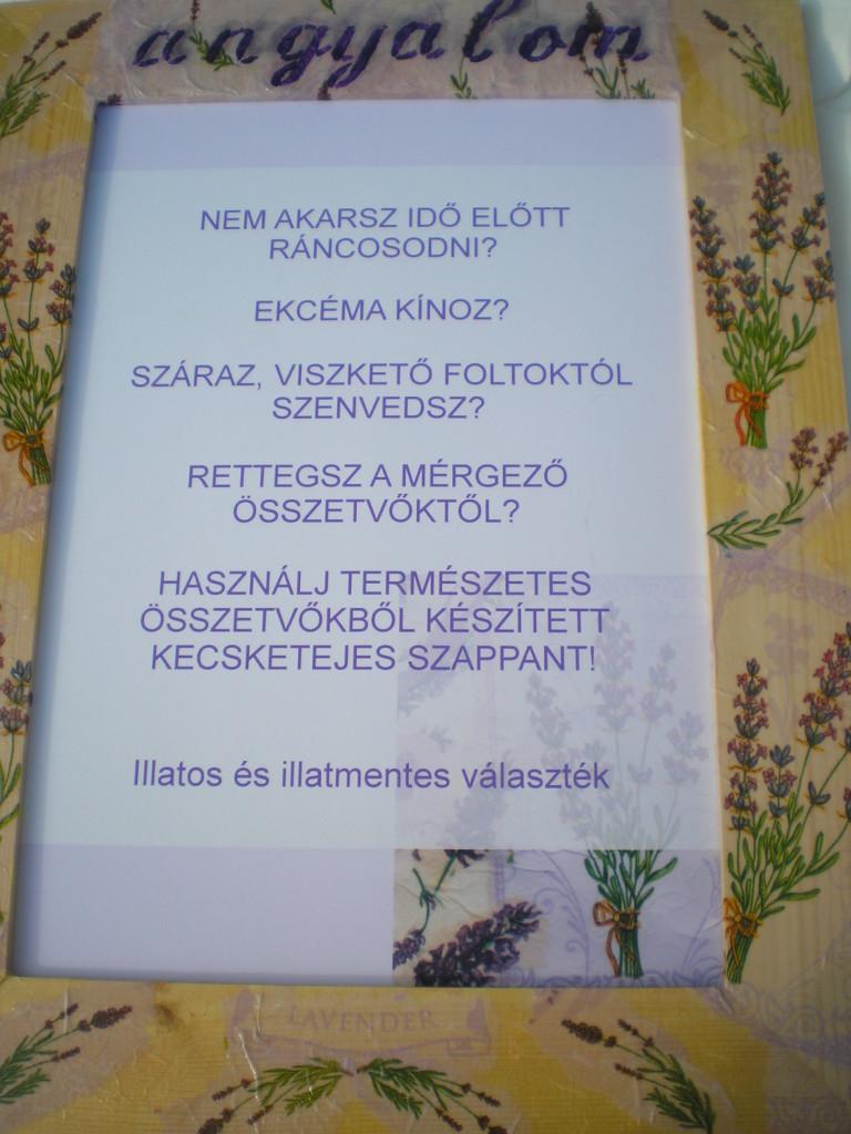 Natúr szappan plakát